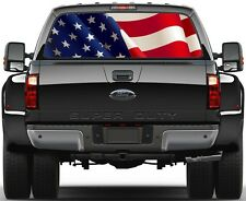 USA American Waving Flag Rear Window Graphic Decal for Truck SUV Vans Ver-A