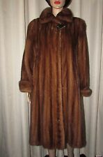 VINTAGE SUPERBE MEDIUM  BROWN  MINK FUR COAT      SZ MEDIUM  BUST 40