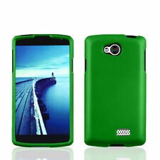FOR LG TRIBUTE LS660 / F60 /MS395 GREEN  2-PC RUBBERIZED SNAP-ON SKIN CASE COVER