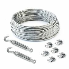 SET 10m cable 5mm acier inox cordage torons