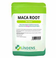 Maca Root Tablets 100 x 500mg Lepidium Meyenii Lindens Sexual Health Libido