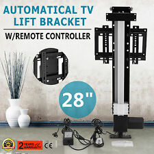 """28"""" AUTOMATICAL TV LIFT BRACKET WALL MOUNTED STROKE 700MM MAX LIFT 4000N HOT"""