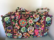 New Vera Bradley Large Duffel Bag Disney Midnight with Mickey Luggage $99