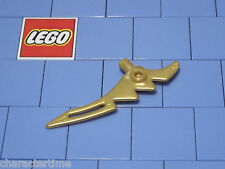 Lego 98141 Pearl Gold Minifigure Weapon Crescent Blade Serrated With Bar X 2 NEW