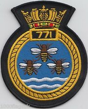771 Naval Air Squadron Royal Navy Embroidered Crest Badge Patch MOD Approved