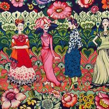 1m Frida La Catrina Dark Marine Alexander Henry Fabric PER METRE Retro Kahlo Blu