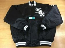 Majestic MLB Authentic Collection Chicago White Sox Satin Bomber Jacket Black L
