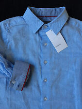 VINCE Blue & White Check Button Down Long Sleeve Shirt Boys Size 3 *NEW*