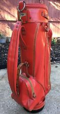 "Vintage TITLEIST ""Classic"" Red W/Gold Trim Cart/Staff Golf Bag W/Raincover"