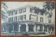 Swastika Inn Pleasant Valley NY 1914 Postcard Socony Gasoline & Ice Cream Signs