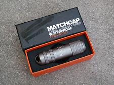 EXOTAC Match Cap Gunmetal wasserfeste Streichholzbox Aluminium Survival Kit