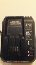 PORTER CABLE PCC691L 20V MAX LITHIUM ION BATTERY CHARGER PCC680 PCC600 PCC640