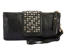PU Leather Women Fashion Bling Rivet Evening Party Clutch Bags Purse Wallet