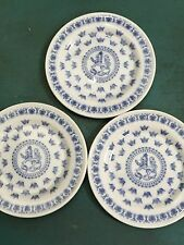 SVEA RORSTRAND BLUE LION BUTTER PAT COASTER SMALL PLATE SWEDEN~ SET OF 3