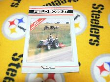 White Oliver Tractor Field Boss 37 Tractor Dealer's Brochure