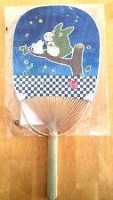 NEW Studio Ghibli TOTORO Bamboo & paper fan UCGIWA Japan traditional firefly