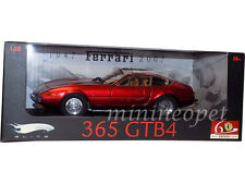 HOT WHEELS ELITE L2981 FERRARI 365 GTB 4 60TH 1/18 DIECAST MATTE RED CHROME