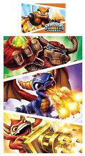 SKYLANDERS GIANTS FIRE BOYS SINGLE BED BEDDING DUVET / QUILT COVER SET MONSTERS