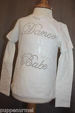 Geox langarm Shirt Straßsteine  ❤️ Gr. 104  off-white ❤️ GEOX NEU