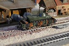 MARKLIN, MILITARY CAMO WAGON WITH ONE MINITANK AS LOAD, SCALE HO