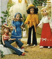 "10 & 12"" teenage  Dolls clothes knitting pattern.  ( V Doll 21)"