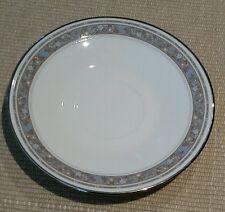 "Lenox Oxford Rendezvous Saucer 6"" Bone China Grey Platinum Silver Trim Porcelain"