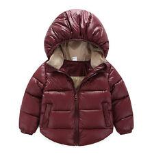 2-7Year Winter Kids Boys Girl Duck Down Snowsuit Hooded Warm Coat Jacket Outwear