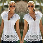Women Summer Lace Vest Top Sleeveless Casual Tank Blouse Tops T-Shirt