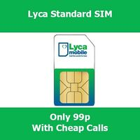 OFFICIAL LYCA MOBILE CHEAP International PAYG LYCA Sim Card - Calls From 1p
