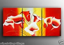 """Framed Modern abstract oil painting on canvas Tulips 72x36""""H - Last 1"""