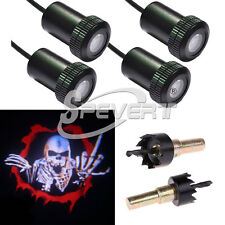 2 Pair LED Welcome Projector Laser Logo Car Step Door Light Bombillas For Skull