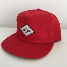 NEW RIP CURL SURF HAZARDS SNAP BACK RED CAP HAT 1SZ BALL CAP ZY371