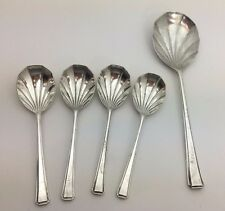 VTG. Faltstaff Silver Plate EPNS Made in England Serving Spoon and 4 Teaspoons