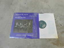 AEOLIAN STRING QUARTET-MAW/WOOD -LP-IMP-UK-ARGO ZRG 564-GROOVED OVAL-SHRINK-NM