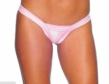 BZ-1129 Sexy Stripper Gogo Dancer Wear Outfit Baby Pink Comfort V Back Thong