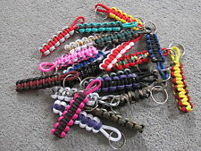 20x Mixed Color Paracord Keyrings *Bag Rucksack Case* Lot Carboot WholeSale gift