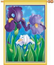 "Enchanting Iris Flower House Flag Large 40"" x 28"""