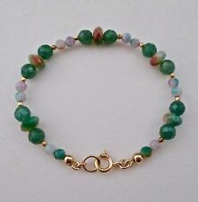 CANDY JADE & GOLD BEADED BRACELET ~ FETCHING!