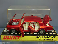 DINKY TOYS  MODEL No.158 ROLLS ROYCE SILVER SHADOW  LIMOUSINE (RED VERSION) MIB