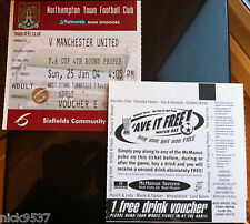 Northampton Town vs Manchester United | FA Cup 4TH Redondo | (sin Uso) billete!!!