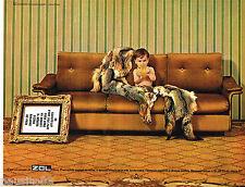 PUBLICITE ADVERTISING 055  1967  ZOL  canapé-lit