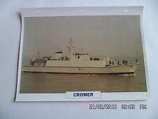 CARTE FICHE NAVIRES DE GUERRE CROMER 1990 CHASSEUR DE MINES