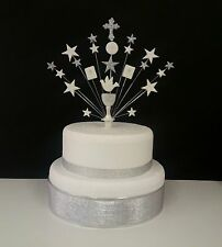 Communion or Christening, bible,  chalice and cross personalised cake topper