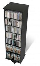 Prepac Two Sided Spinner, holds 528 CDs in Black BMS-0525 New
