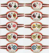17 Zigarrenbandarolen Endspiele Europapokal 1956 - 1972