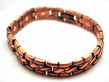 MENS 8.5 INCH HEALING MAGNETIC THERAPY LINK BRACELET Copper Rope; For Pain!