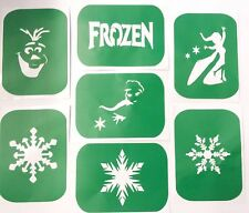 Pack of 7 Frozen-2 Glass Etching  and Glitter Glass Stencils