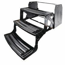 "Lci Lippert Triple 3 Steps 9"" Rise Folding RV Camper Radius Style 24"" 177401"