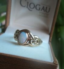 Clogau Welsh 9ct Yellow & Rose Gold Celtic Opal Ring h/m c.2000/2  size O