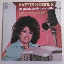 """2 x 33T Yvette HORNER Disque LP 12"""" LES GRANDS SUCCES MUSETTE Vol 4 - CBS 88462"""